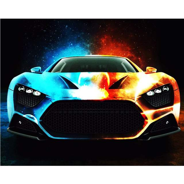 Colorful Car - Painting on Canvas for Adults