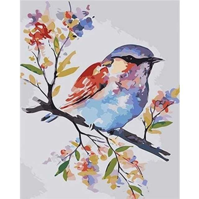 Colorful Chickadee - Paint by Numbers for Adults