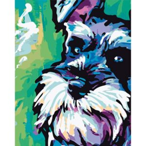 Colorful Scottish Terrier - Paint by Numbers for Sale