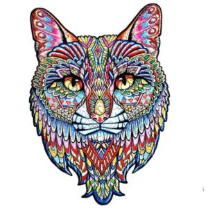 Colorful Zentangle Cat - Acrylic Paint by Numbers Kit
