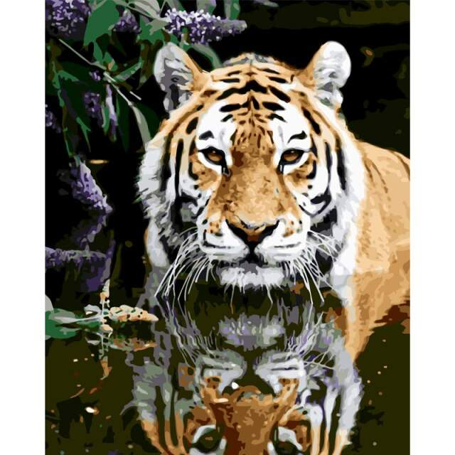 Crouching Tiger - Painting with Numbers Kits