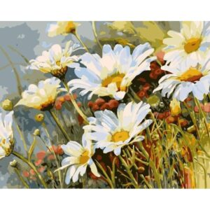 Daisies in the Meadow - Flower Painting by Numbers for Sale