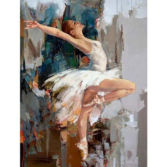 Dancing Ballerina - Paint with Numbers for Adults