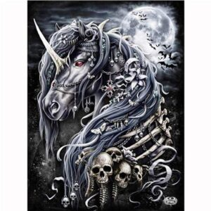 Dark Horse Skull - Paint by Numbers for Sale