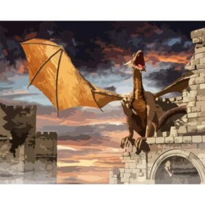 Dragon Castle - Painting by Numbers for Him