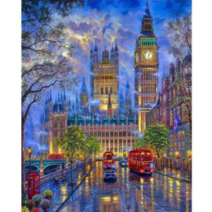 Evening London After Rain - Paint by Numbers London