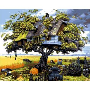 Fantastic Landscape Fairy Tree - Paint by Numbers