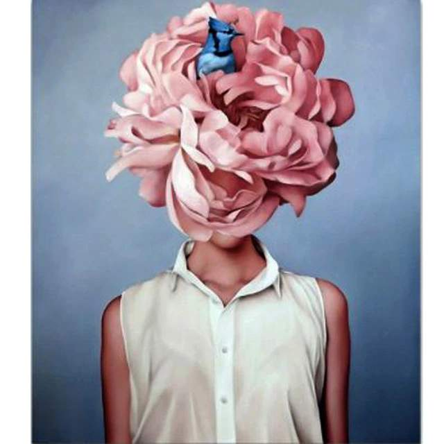 Figure of Lady Peachy Peony Head - Painting by Numbers Kit
