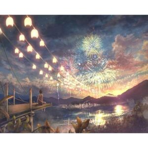 Fireworks on the Lake - Paint by Number for Adults