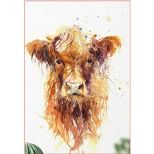 Fluffy Red Cow Painting by Numbers