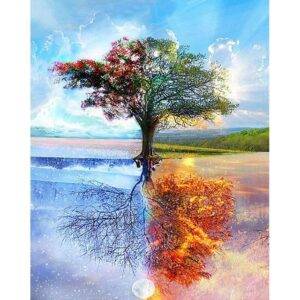 Four Seasons Tree - Painting by Numbers for Adults