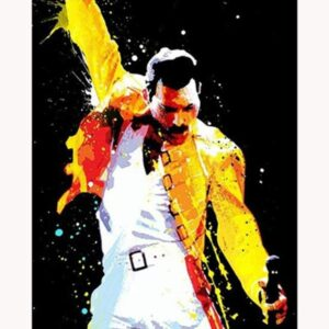 Freddie Mercury Watercolor Poster - Paint by Numbers for Adults