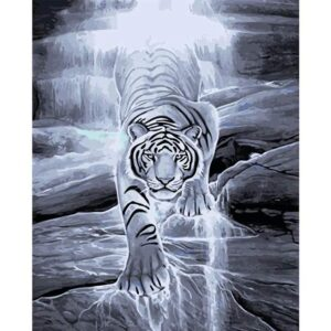 Frosty Tiger - Animals Coloring by Numbers