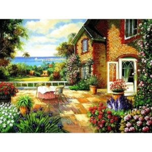 Garden Cottage - Paintings by Numbers Kit