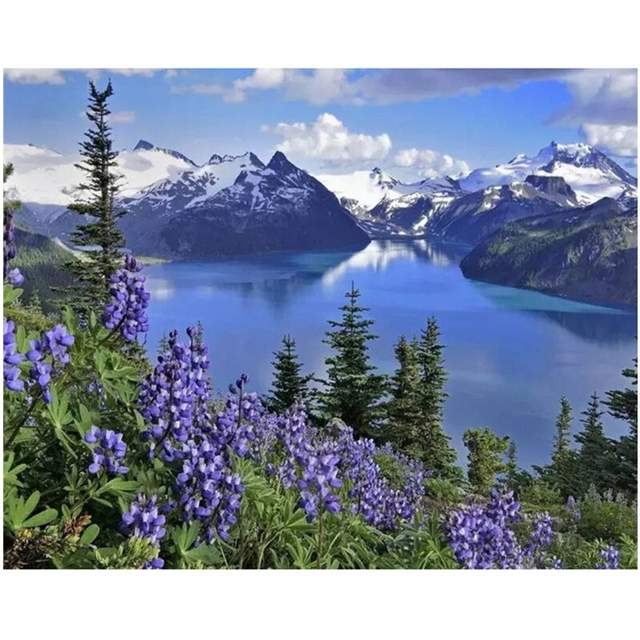 Garibaldi Lake - Landscape Coloring by Numbers Kits