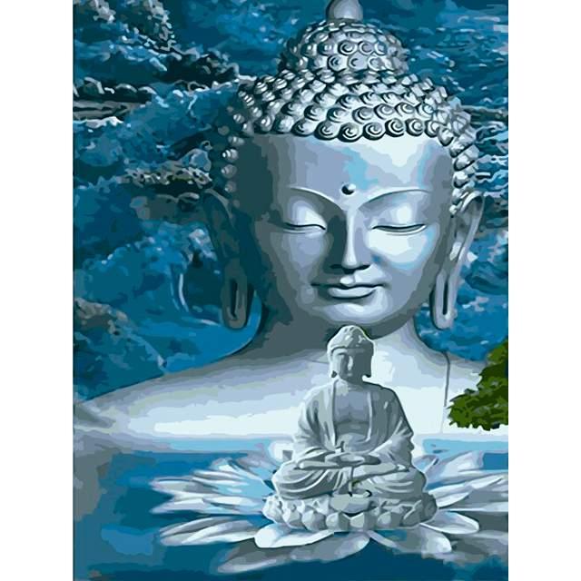 Gautama Buddha Acrylic Paint by Numbers