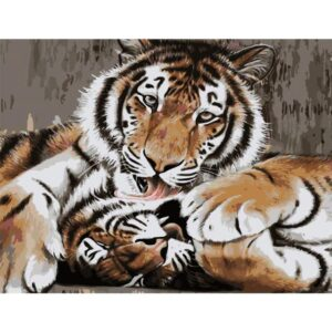 Gentle Tigers - Animals Painting by Numbers for Adults
