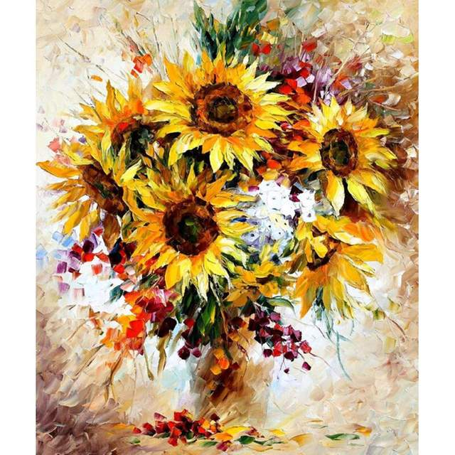 Golden Sunflowers - The Best Paint by Numbers