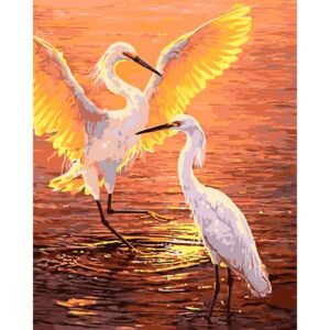 Herons at Sunset - Paint by Numbers for Sale