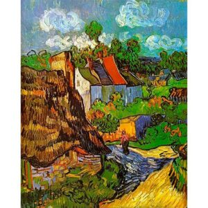 Houses in Auvers by Vincent Van Gogh 1890 Painting by Number