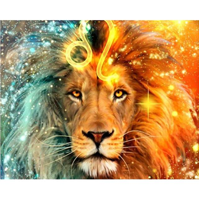 Ice and Fire Lion - Painting by Numbers for Sale