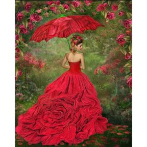 Lady in Red Dress - Paint by Numbers Kit