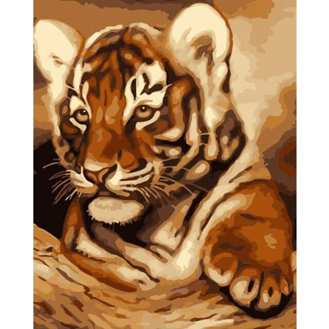 Little Amur Tiger - DIY Painting on Canvas Kit