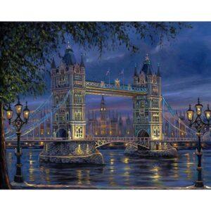 London Tower Bridge - Paint by Numbers Size 40 x 50 cm