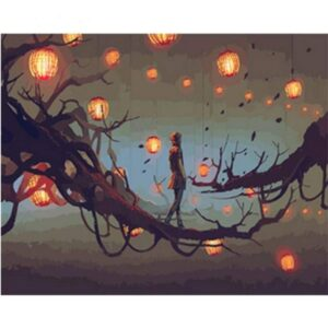 Magic Sky Lanterns - Painting by Numbers for Sale