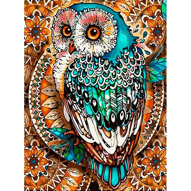 Mandala Circle Owl - Best Paint by Numbers