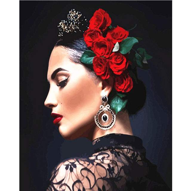 Mexican Woman - Painting by Numbers for Sale