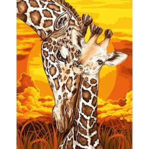 Mother's Love Giraffes - Painting by Numbers for Her