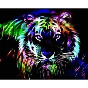 Neon Tiger - Painting by Numbers Kit for Adults
