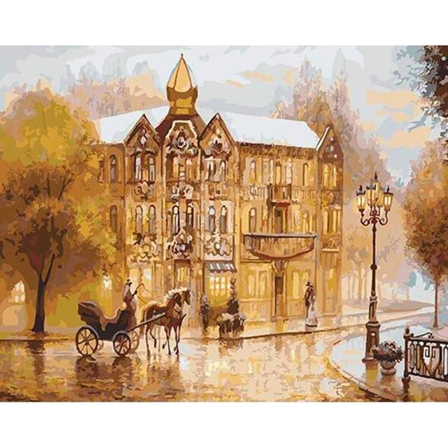 Old London Mansion - Paint by Numbers