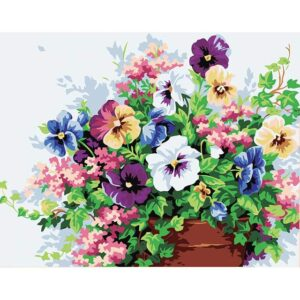 Pansies Flowers - Acrylic Paint by Numbers for Adults