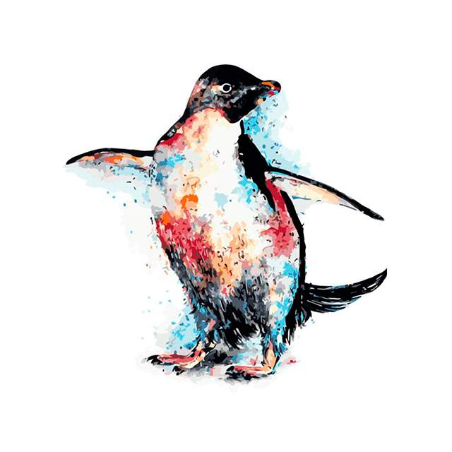 Penguin Watercolor Paint by Numbers for Sale