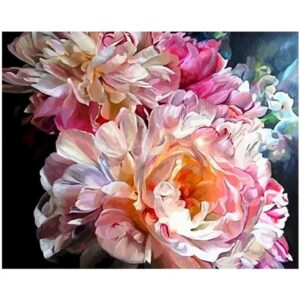Pink Peony Flower - Painting by Numbers Kit