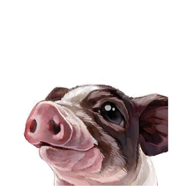 Portrait a Happy Piglet - Easy Paint by Numbers for Child