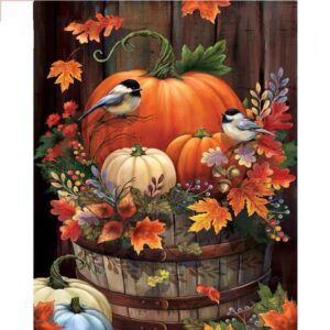 Pumpkin and Birds - Paint by Numbers Set
