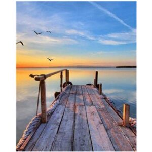 Quiet Sea and Seagulls - Seascape Coloring by Numbers for Adults