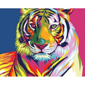 Rainbow Tiger - Paint by Number for Beginner