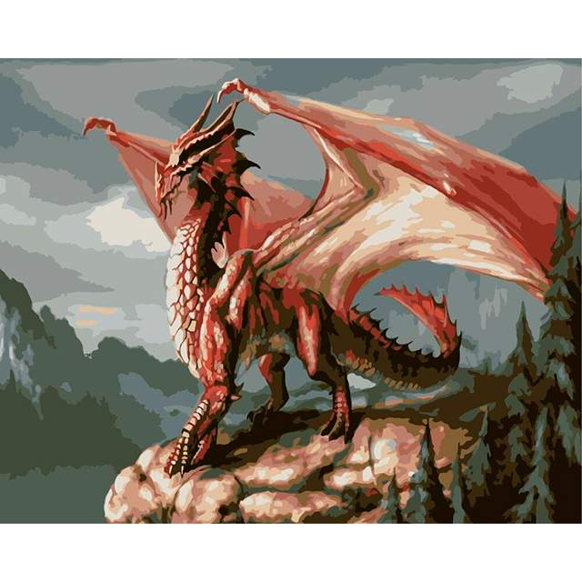 Red Dragon - Painting by Numbers for Sale