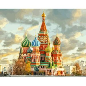 Saint Basil's Cathedral Painting by Numbers for Adults