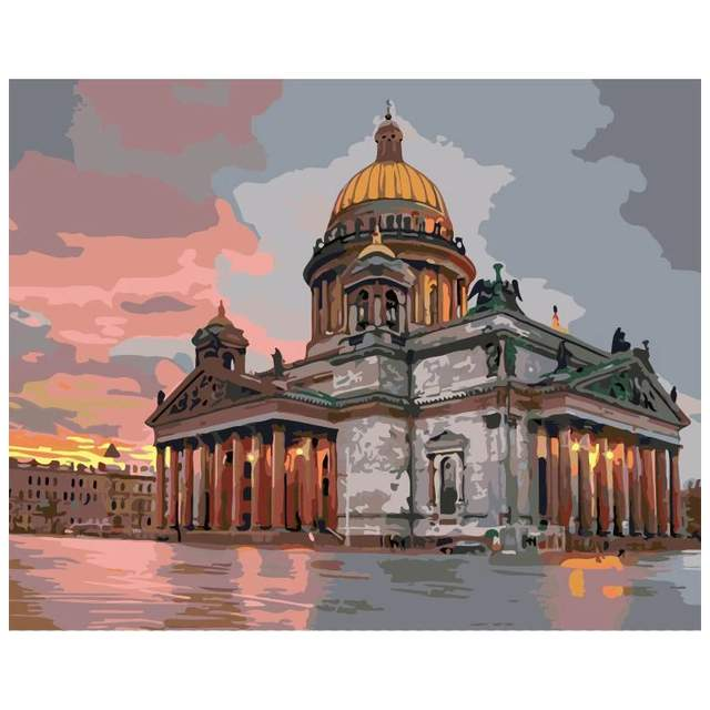 Saint Isaac's Cathedral at Sunset - DIY Paint by Numbers
