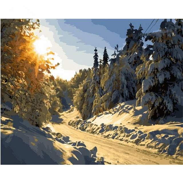 Snowy Forest - Picture by Numbers