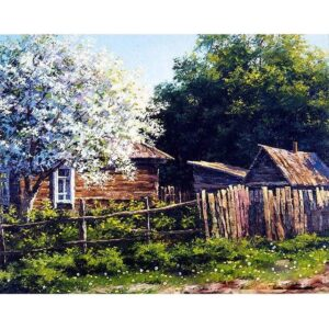 Spring in Village - Paint by Number Kit