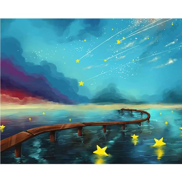 Star Rain - Galaxy Paint by Numbers Kit
