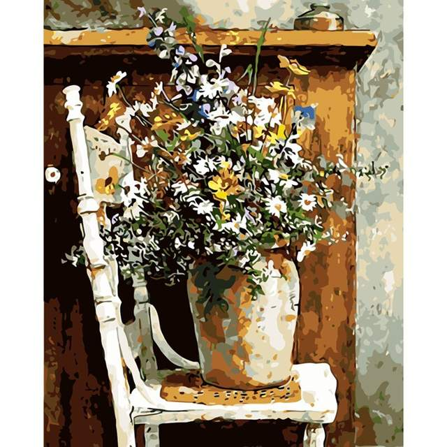 Still Life with Wildflowers Paint by Numbers Kit