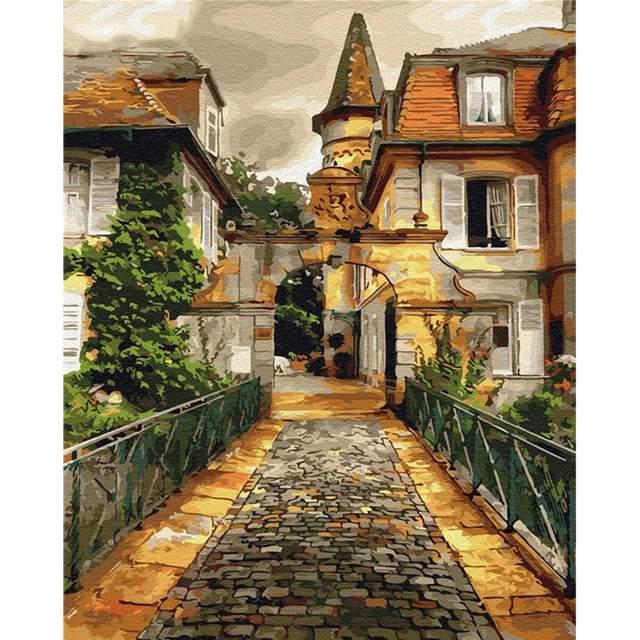 Stone Bridge to Parisian Courtyard