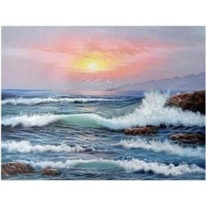 Sunset Ocean Waves - Paint by Numbers Kit